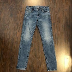 American eagle jeans hi rise skinny super stretch